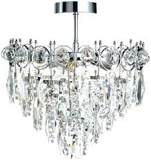 semi flush mount crystal chandeliers staggering