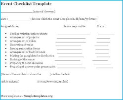Post Event Checklist Template Word Planning Microsoft Excel