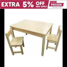 table 2 chairs. image is loading childrens-natural-wood-table-2-chairs-rectangle-kids- table 2 chairs