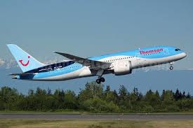 thomson airways london luton and manchester and boeing announced the delivery of the airline s first boeing 787 dreamliner the airplane the first of