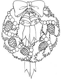 Small Picture Adorable Wreath Free Coloring Pages For Christmas Christmas
