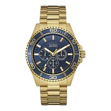 guess men s gold blue watch buy now from an official uk stockist picture of guess men s gold blue watch