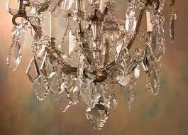 french 19th century louis xv marie therese bronze and crystal chandelier dd with crystal baguettes on alternating arms