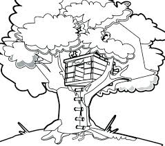House Coloring Pictures Tree House Coloring Tree House Coloring Page