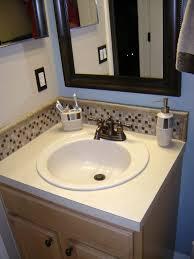 the awesome glass tile backsplash in bathroom design ideas