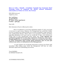 Final Warning Letter To Employee For Absence | Textpoems.org