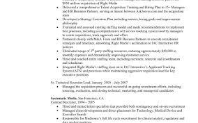 Staffing Recruiter Resume Resume For Your Job Application