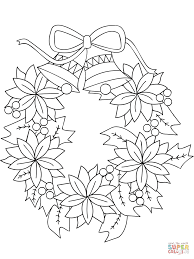 Free Printable Coloring Christmas Wreath Pagesl L