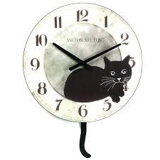 chaney wall clocks chaney wall clock tapie reloj wall clock medium image for ergonomic cat pendulum