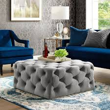 velvet ottoman coffee table tufted