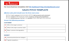 pitch document template download free sales pitch template samples and examples tools