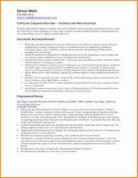 Sample Resume For Recruiter Position Sample Resume For Hr Recruiter Position Inspirational Free Download 4