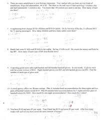 2x2 word problem handout