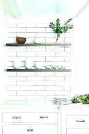 floating marble shelf bracket kitchen cabinets shelves transitional sage design throughout ideas floo