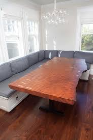 Redwood Slab Dining Table Longleaf Lumber Salvaged Redwood Table