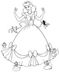 coloring pages of cartoon princesses