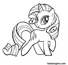 Small Picture My Little Pony Friendship Is Magic Rarity coloring pages