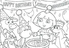 Coloring Pages For Kids Summer Printable Happy Birthday Stock