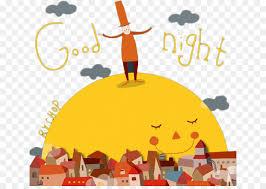 night morning greeting cartoon goodnight moon