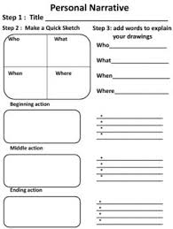 personal narrative graphic organizers personal narratives  personal narrative graphic organizers
