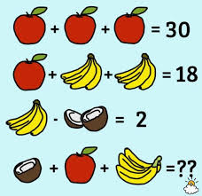 solve the fruit equation