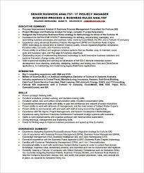 Business Systems Analyst Resume Template New Business Analyst Resume Template 28 Free Word Excel Pdf Free