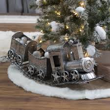 ... Incredible Decoration Christmas Train 36 In Silver Metal Holiday  Hayneedle ...
