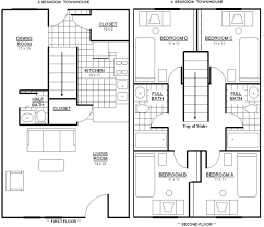 4 Bedroom Townhouse Floor Plans  Nrtradiantcom4 Bedroom Townhouse Floor Plans