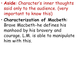 macbeth act three witches element of the supernatural king  7 aside character s