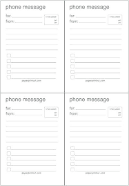 Office Message Template