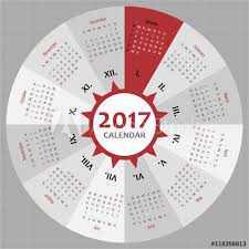 Circle Calendar Template Circle 2017 Calendar Template For Commercial And Private Use