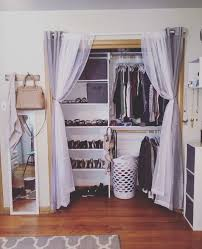 diy closet door curtains pleasing best 25 curtain closet ideas on