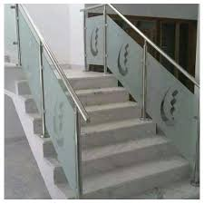 stainless steel and glass bar glass staircase railing