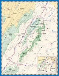 shenandoah valley map  washingtonian magazine