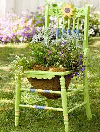 Terrace and Garden: Garden Chair Planters Decorating Ideas - Outdoor  Furniture