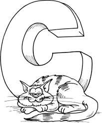 Letter C Is Voor Cat Kleurplaat Gratis Kleurplaten Printen