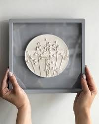 decorative wall plate in frame for