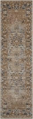 kathy ireland ki25 malta beige runner 6 to 9 ft polypropylene carpet 100035