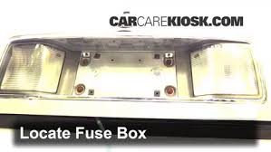 interior fuse box location 1994 1999 cadillac deville 1995 locate interior fuse box and remove cover