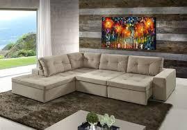 sofá de canto 5 lugares retrátil e reclinável occasionne sofa reclinavel couch sofá