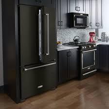 black appliances kitchen