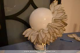 faux capiz shell flower pendant light 8