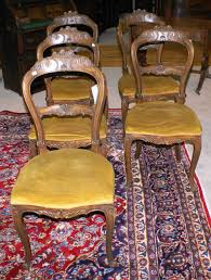 set of 6 mint clean french carved victorian dining room chairs or parlor chairs
