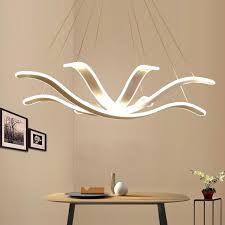 chandelier lighting re led lamp modern hanging light fixture aluminium ceiling plate remote control chandeliers living