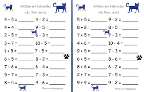 Grade Kindergarten Math Worksheets Addition And Subtraction Free ...