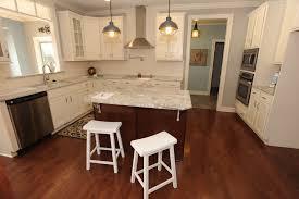 modern white wooden l shape kitchen island