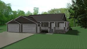 Nice House Plans With Car Garage   Ranch Style House Plans With        Nice House Plans With Car Garage   Width With Car Garage