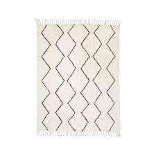 west elm souk ivory wool rug