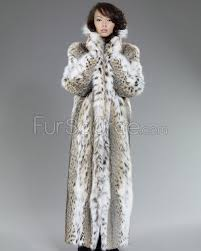 women s full length lynx fur stroller coat