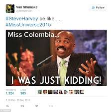 Steve Harvey's colossal Miss Universe gaffe sets off meme ... via Relatably.com